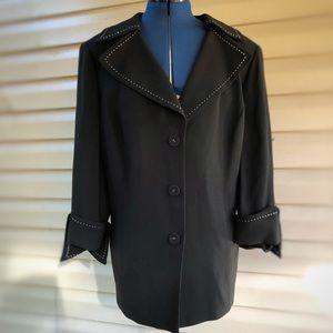 Tesori   Black w/White stitch Blazer/Jacket